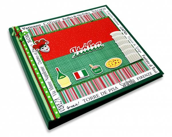 Álbum Decorado Itália miolo papel 30 x 30 cm