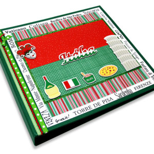 Álbum Decorado Itália miolo plástico 30 x 30 cm