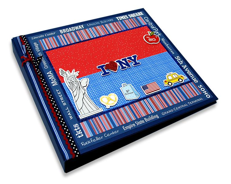 Álbum Decorado NY miolo plástico para 120 fotos 10 x 15 cm