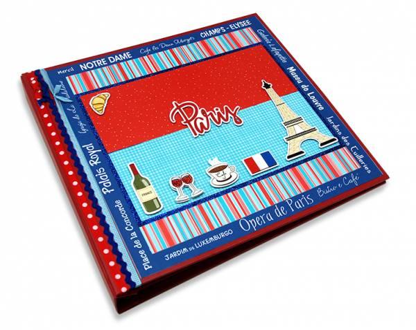 Álbum Decorado Paris miolo plástico 30 x 30 cm