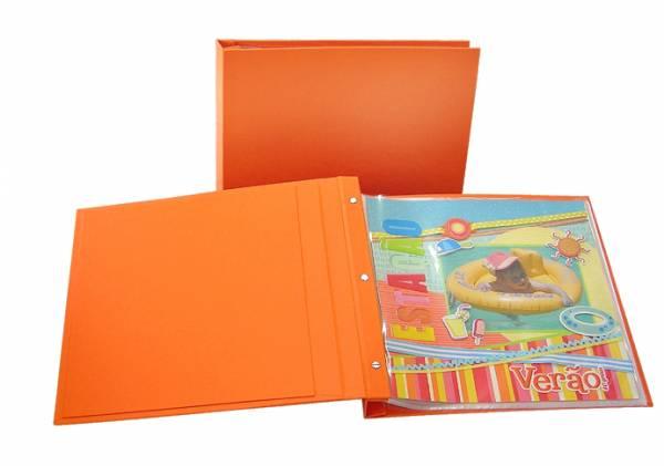 Álbum Decorado NY miolo plástico 30 x 30 cm